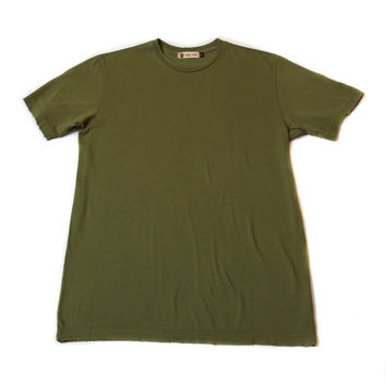Frayed Tee - Army Green - Norman Russell