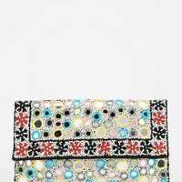 Ecote Beaded Mirror Crossbody Clutch
