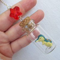 Pokémon Necklace - CYNDAQUIL - Toy in a Bottle - Gamer Gear - UNISEX
