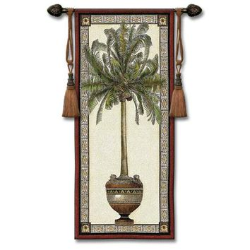 Pure Country Weavers 1707-WH Old World Plum I Woven Wall Tapestry