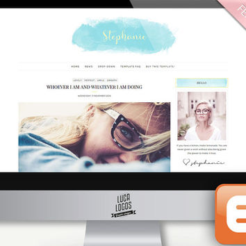 "Premade Blogger Template Design - ""Stephanie"" 