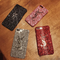 YSL Shining iPhone Phone Cover Case For iphone 6 6s 6plus 6s-plus 7 7plus