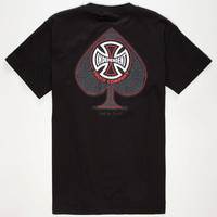 Independent Can't Be Beat Spade Mens T-Shirt Black  In Sizes