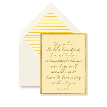 If You Live To Be A Hundred Greeting Card, Single Folded Card or Boxed Set of 8