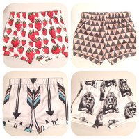 You Pick, Anchors Red Or Blue, Foxes, Teepee, Mountains Cotton Knit Shorts Bloomers for Newborn Babies, Toddlers and Kids Boys and Girls