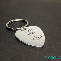 I Pick You, Custom Initials, Guitar Pick, Stamped Pick, Musician Gift, Couples Accessory, Anniversary