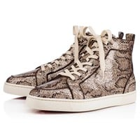Best Online Sale Christian Louboutin Cl Rantus Orlato Men's Flat Roccia Glitter Eve Shoes 3170776gy28