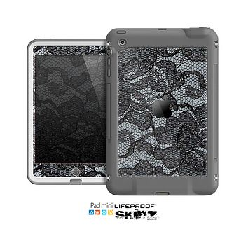The Black Lace texture Skin for the Apple iPad Mini LifeProof Case