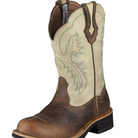 Ariat Women's Showbaby Boot - Earth/Bone Crackle