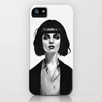 Mrs Mia Wallace iPhone & iPod Case by Ruben Ireland