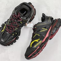Balenciaga Track Trainers In Burgundy And Black Mesh And Nylon Sneakers - Best Online Sale