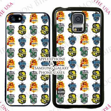 Harry Potter Crests Pattern Minimalist Phone Case For Apple iPhone 4, 5, 5c, 6 and iPhone 6 Plus Plastic or Rubber Phone Case