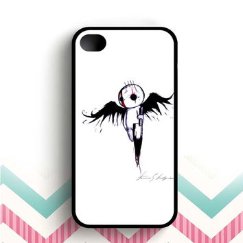 emo angel Art  iPhone 4 and 4s case