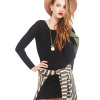 Long-Sleeve Bodycon Sweater Dress | Wet Seal