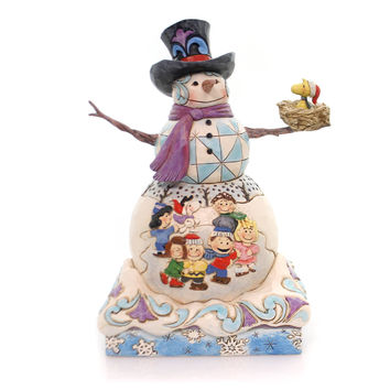 Jim Shore SNOW DAY Polyresin Peanuts Gang Woodstock Snowman 4057670