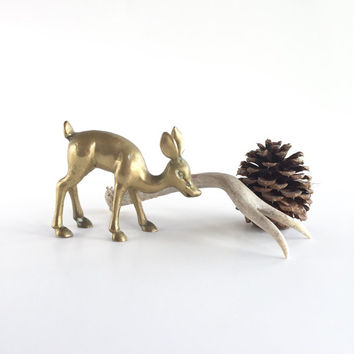 Vintage Brass Deer Fawn or Doe