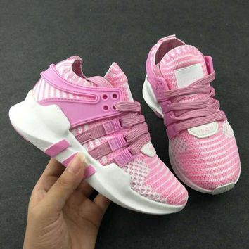 ADIDAS EQT Girls Boys Children Baby Toddler Kids Child Durable Breathable Sneakers Sport Shoes-6
