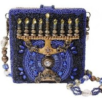 Mary Frances Hanukkah Beaded Sequin Menora Holiday Festival of Lights Clutch Shoulder