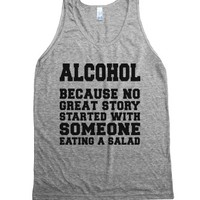 Alcohol-Unisex Athletic Grey Tank