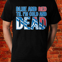 NY Rangers Tshirt, New York Rangers Tank top, Ny Rangers Blue n Red TiL Im Cold n Dead T shirt