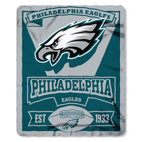 Philadelphia Eagles NFL Light Weight Fleece Blanket (Marque Series) (50inx60in)