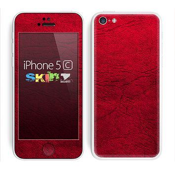 The Rich Red Leather Skin for the Apple iPhone 5c