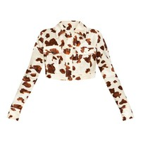Cream Cow Print Jacket