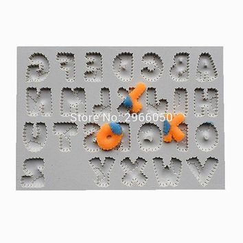 CREYLD1 Patchwork Font Silicone Mold, Cake Decorative Tool, Bakery Mold, Kitchen Accessories SQ1717