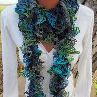 Elegant curly scarf, scarf, girls, women, spring, autumn, colorful,gray, dark blue, turquoise, green,Spring, fall, year-round