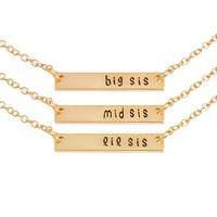 BFF Chain Pendant Necklace for Women