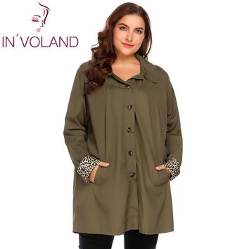 IN'VOLAND Large Size XL-5XL Women Rain Coat Jacket Spring Plus Size Hooded Windbreaker Lightweight Waterproof Raincoat