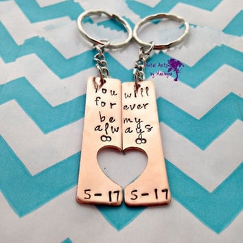 SALE Sweetheart Key Chains Couple Key Chains Infinity Jewelry BFF Keychains boyfriend Present Couple Jewelry Anniversary Gift For Him Matchi