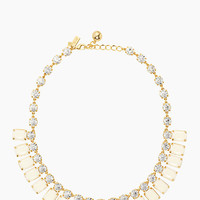 Kate Spade Opening Night Short Spray Necklace Clear/Cream/Gold ONE