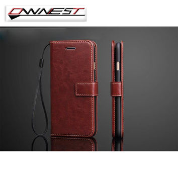 OWNEST Free Shipping Luxury Wallet Flip Cover stand Case For iPhone 7 7 plus 6 6s plus 5 5s 4s Cell Phone PU Case with Card Slot