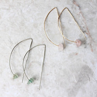 Half moon minimalist wire earrings