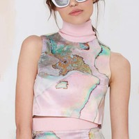Karla Spetic Cove Rover Satin Crop Top