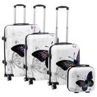 World Traveler Butterfly 4-piece Hardside Spinner Luggage Set with TSA Lock | Overstock.com Shopping - The Best Deals on Four-piece Sets