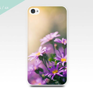 iphone 4 case 4s 5 botanical nature scene fine art photography iphone case lilac daisies flowers cover case nature photo iphone 5 case