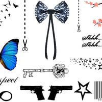 Inkwear Favourites Set of temporary tattoos