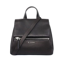 Givenchy Womens Pure Pandora Leather Shoulder Bag Black
