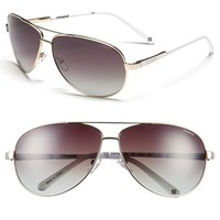 Women's Polaroid Eyewear 65mm Polarized Aviator Sunglasses
