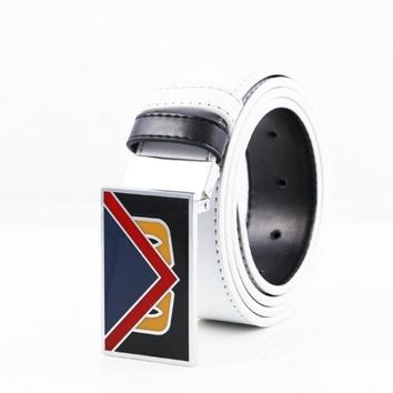 FENDI UNISEX SIDED LEATHER MONSTER BELT LAFAYETTE BEL