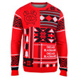 """Chicago Blackhawks Official Men's NHL """"Ugly Sweater"""" by Klew"""