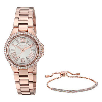 Michael Kors MK3654 - Petite Camille and Bracelet Gift Set at Zappos.com