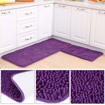 Autumn Fall welcome door mat doormat Microfiber Chenille Anti-Slip Rug Bath Absorbent Carpet Kitchen Bedroom  60 X 40cm AT_76_7