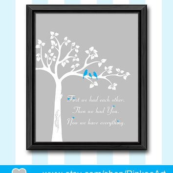 baby boys room decor birds and tree boy nursery art first we had nursery poem baby boy nursery boy nursery idea baby nursery decor baby gift