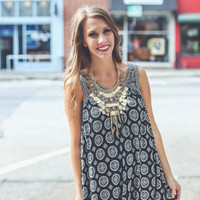 Medallion Sundress in Black
