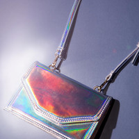 Deena & Ozzy Michelle Holographic Mini Bag - Urban Outfitters