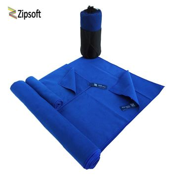 2 PCS/SET Microfiber Sports Towel Gym Beach Quick dry Travel Solid Outdoor Yoga Swimming bath towels adults Christmas present