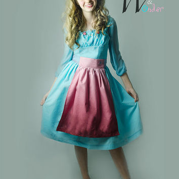 NEW Cinderella Dress 2015, Cinderella Servant Girl Dress, Cinderella Peasant costume for Girls, 2015 Cinderella movie Dress, Easter Dress